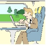 "I often blog while ""on the go."""