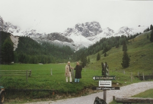"R2(on right) and cousin use the ""awesome"" view of the Alps from outside Filzmoos, Austria as a backdrop."