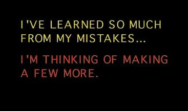 Why make misstakes? :-)