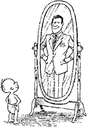 man looking in mirror drawing. what\u0027s wrong with the mirror\u0027s reflection? » boy_dad man looking in mirror drawing h