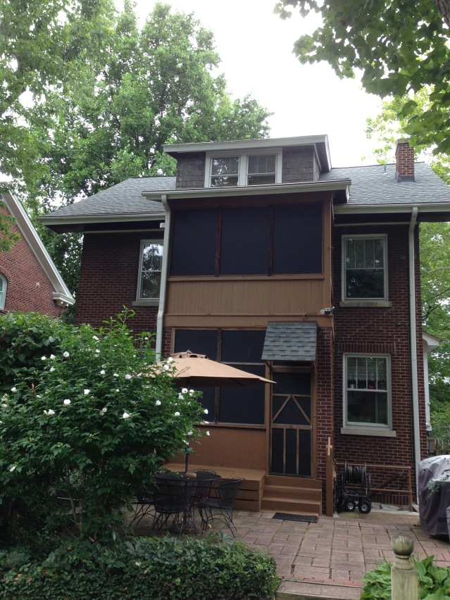 Back of 6647 Waterman Ave. Features two screened porches.